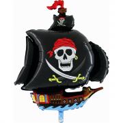 Pallone foil nave pirata 104x82 cm per elio