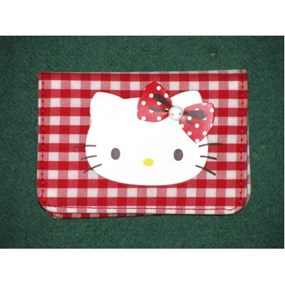 Porta carte Red Hello Kitty