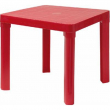 Tavolo in plastica rosso