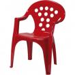 Sedia in plastica rossa
