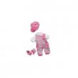 Salopette righe rosa cm. 30 Trudi