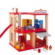Caserma dei pompieri in legno