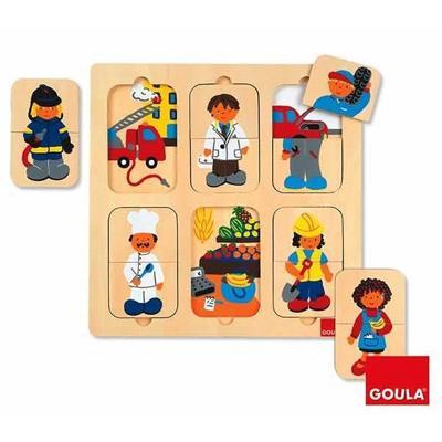 Puzzle in legno Mestieri Goula