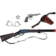Valigetta fucile winchester, pistola e accessori