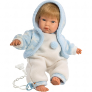 Bambola Cuqui 30 cm azzurro