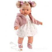 Bambola Roberta 38 cm Vestito Rosa e Bianco