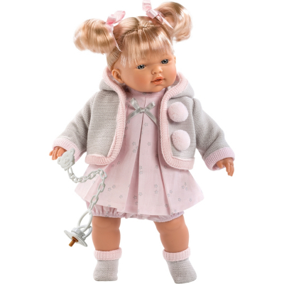 Bambolotto Bebè Mio giocattolo per bambina bimba ciuccio vestiti azzurro rosa 3+