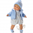 Bambola bionda Pablo 38 cm con ciuccio
