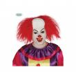 Parrucca clown calvo con capelli lato