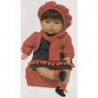 Bambola Tita bionda o mora vestito rosso profumata cm. 45