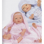 Bambola Recién Nacido con lenzuolino cm. 45