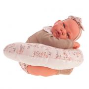 Bambola neonata con cuscino allattamento