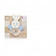 Trillino coniglio cerchio 12cm azzurro