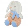 Coniglio con sonaglino 28cm sciarpa azzurra