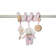 Baby spirale coniglio rosa 32cm