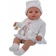 Bambola neonata 42cm vestito bianco