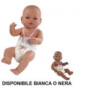 Bambola neonata 42cm bianca o nera