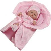 Bambola neonato rosa 27cm in gomma