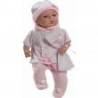 Maria con tutina rosa e bianco 42cm
