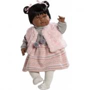 Sara bambola negrita inverno piangente 50cm