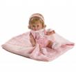 Bambola baby chusin vestito rosa 34cm