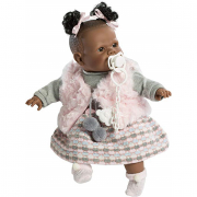 Bambola Alicia 38cm piangente gilet rosa