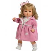 Bambola Sandra 42cm cappottino rosa