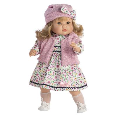 Bambola Sandra parlante abito a fiori cm. 42