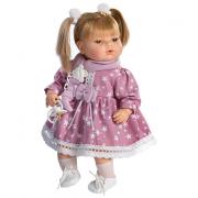 Bambola Maria piangente vestito a stelle cm.42