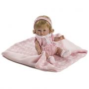 Baby chusin con vestito rosa 34cm