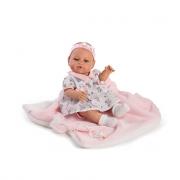 Bambola bebe appena nata vinile 42cm, arti snodati.
