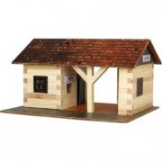 Stazione ferroviaria in legno
