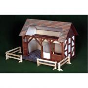 Stalla grande in legno in kit di costruzione