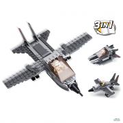 Costruzioni Aircraft Carrier Series Aereo caccia 3-in-1