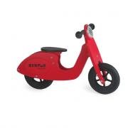Vespa scooter rossa senza pedali