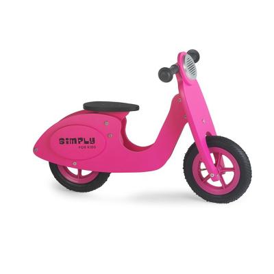 Vespa scooter rosa senza pedali