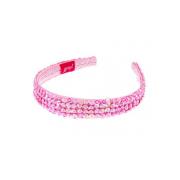 Tiara cerchietto rosa con paillettes Souza