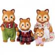 Famiglia panda rossi Sylvanian Families
