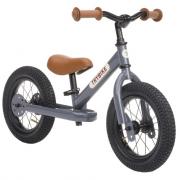 Bici senza pedali in metallo vintage grigio Trybike 2 in 1