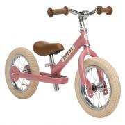 Bici senza pedali in metallo vintage rosa antico Trybike 2 in 1
