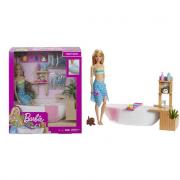 Barbie Playset Bambola Con Vasca Da Bagno GJN32
