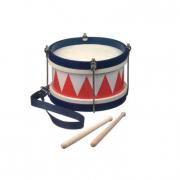 Tamburo in legno blu/rosso/bianco