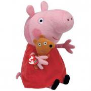 Peppa Pig peluche Peppa Pig con Teddy orsetto cm. 28