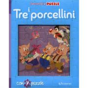 I tre porcellini. Finestrelle in puzzle