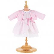 Vestito rosa a quadri e giacca rosa Corolle cm. 42-44