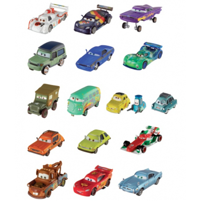 Ass. personaggi Cars W1938 - mattel - 1 auto