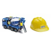 Bruder 01638 - camion betoniera con caschetto