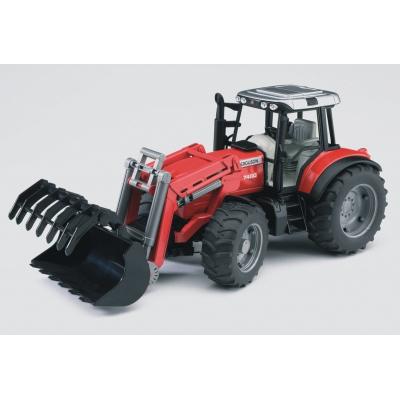 Bruder 02042 - trattore massey ferguson con benna