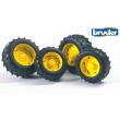 Bruder 02321 - ruote trattore cerchi gialli