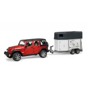 Bruder 02926 - Jeep Wrangler con rimorchio cavalli